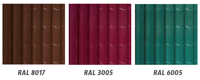 8017 цвет металлочерепицы