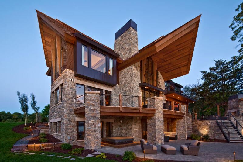 сразу устраивались красивые и необычные фасады частного дома фото самоваром