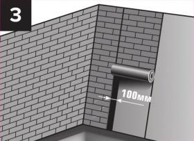 Вертикальный перехлест равен 10 см