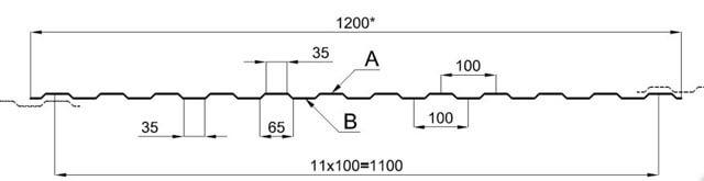 Размеры профлиста МП-10