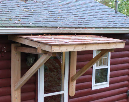 деревянная дранка для козырька дома