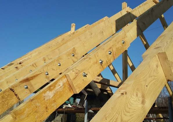 Стропильная система крыши частного дома: устройство и монтаж