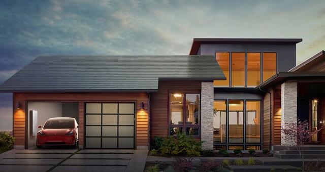 Солнечная крыша Smooth Glass Tile от компании Тесла